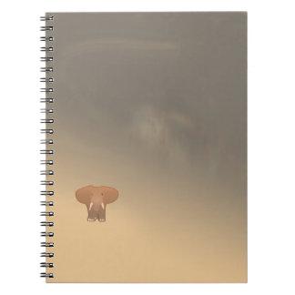 砂漠の小さく小さい象 ノートブック