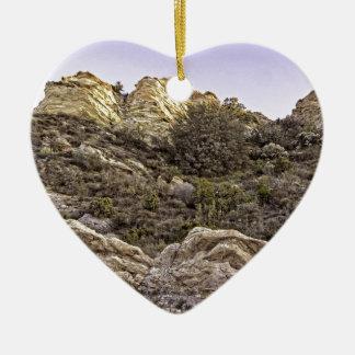 砂漠の崖の眺め セラミックオーナメント