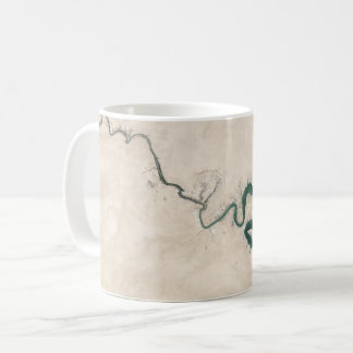 砂漠の川のアンテナのひび コーヒーマグカップ