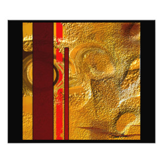 砂漠の抽象芸術6500の砂あらし フォトプリント