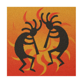 砂漠の日曜日種族のココペリの素朴な南西 ウッドウォールアート