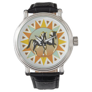 砂漠の星のペンキの馬の腕時計 腕時計