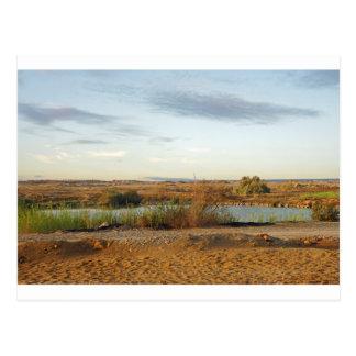 砂漠の景色 ポストカード