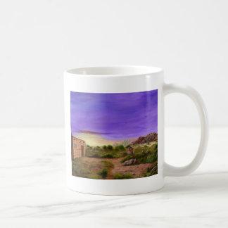 砂漠の歩行 コーヒーマグカップ