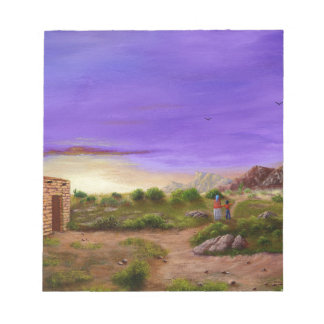 砂漠の歩行 ノートパッド
