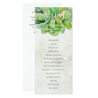砂漠の水気が多い結婚式プログラム-石 10.2 X 23.5 インビテーションカード