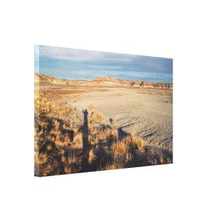 砂漠の波: 化石森林の国立公園 キャンバスプリント