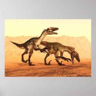 砂漠の猛禽の恐竜 ポスター