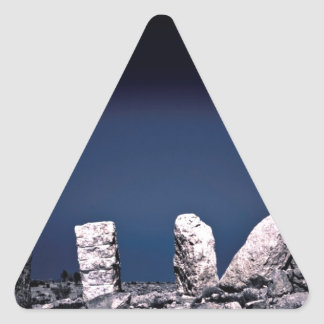 砂漠の石 三角形シール