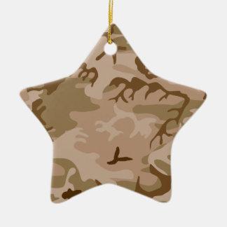砂漠の砂のカムフラージュの星のオーナメント 陶器製星型オーナメント