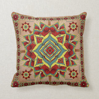 砂漠の秋の曼荼羅の装飾の枕 クッション