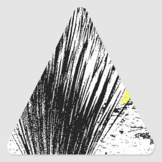 砂漠の草の植物 三角形シール