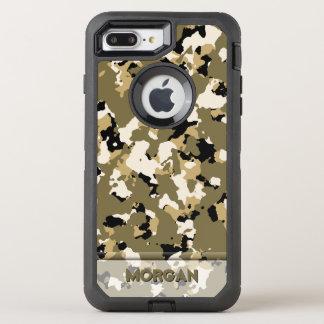 砂漠の迷彩柄の名前のテンプレート オッターボックスディフェンダーiPhone 8 PLUS/7 PLUSケース