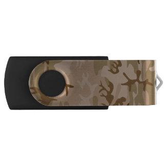 砂漠の迷彩柄-ブラウンのカムフラージュ USBフラッシュドライブ