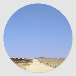 砂漠の道 ラウンドシール