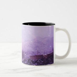 砂漠の雪日 ツートーンマグカップ