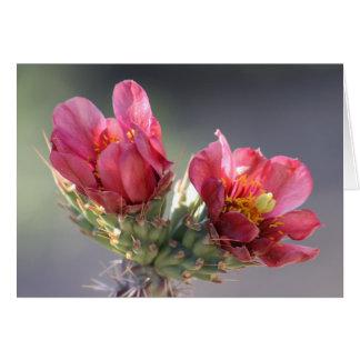 砂漠のChollaの開花カード カード