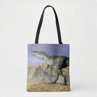 砂漠のMonolophosaurusの恐竜- 3Dは描写します トートバッグ