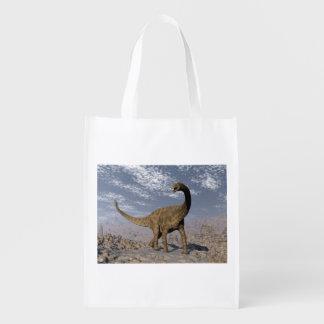 砂漠のSpinophorosaurusの恐竜の歩く エコバッグ