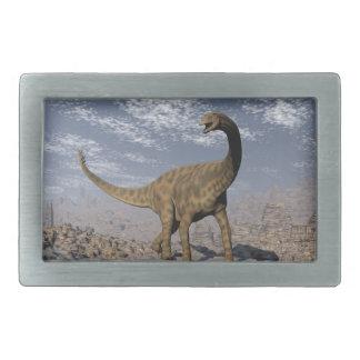 砂漠のSpinophorosaurusの恐竜の歩く 長方形ベルトバックル