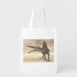 砂漠のSpinosaurusの恐竜- 3Dは描写します エコバッグ