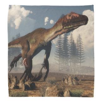砂漠のUtahraptorの恐竜- 3Dは描写します バンダナ