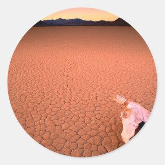 砂漠乾燥しきっているデスヴァレー ラウンドシール