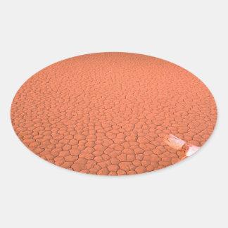 砂漠乾燥しきっているデスヴァレー 楕円形シール