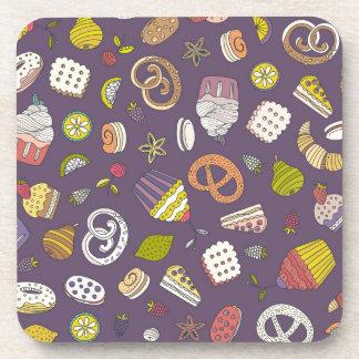 砂漠及び菓子パターン コースター