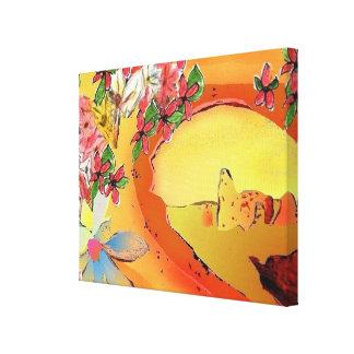 砂漠橋抽象美術の細い深さ キャンバスプリント