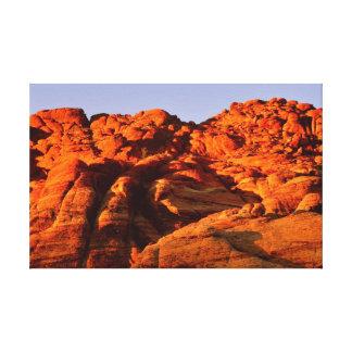 砂漠渓谷のファインアートのプリント キャンバスプリント