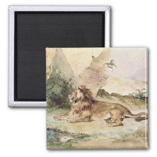 砂漠1834年のライオン マグネット