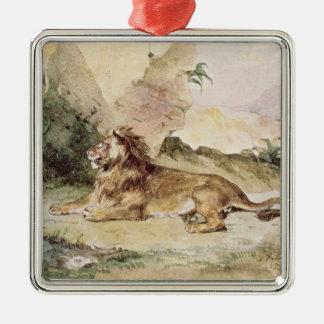 砂漠1834年のライオン メタルオーナメント