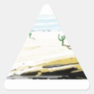 砂漠 三角形シール