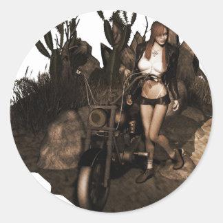 砂漠-古い写真のサラ ラウンドシール