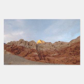 砂漠 床 天井 長方形シールステッカー