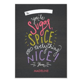 砂糖およびスパイスのバレンタインのカード 8.9 X 12.7 インビテーションカード