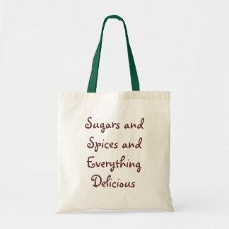 砂糖およびスパイスの買い物袋 トートバッグ
