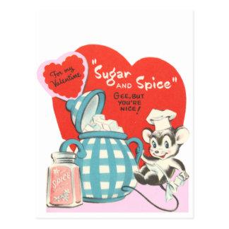 砂糖およびスパイス ポストカード
