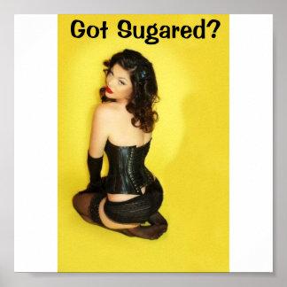 砂糖で甘くされる得ますか。小さいポスター ポスター