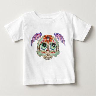 砂糖のスカルのこうもり ベビーTシャツ