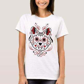 砂糖のスカルのオオカミ Tシャツ