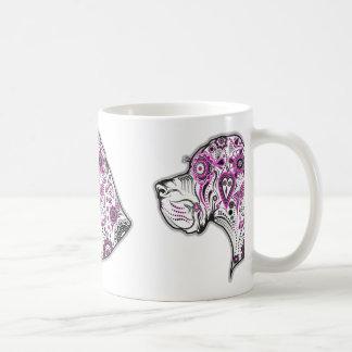 砂糖のスカルのグレートデーン コーヒーマグカップ