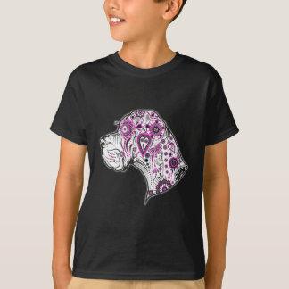 砂糖のスカルのグレートデーン Tシャツ