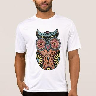 砂糖のスカルのフクロウ色 Tシャツ