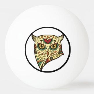 砂糖のスカルのフクロウ-入れ墨のデザイン 卓球ボール