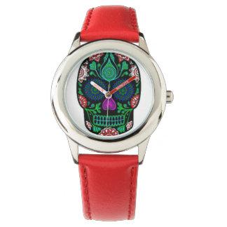 砂糖のスカルの腕時計 腕時計