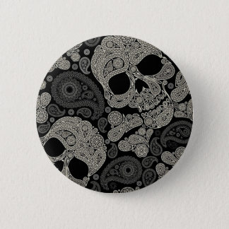 砂糖のスカルの骨が交差した図形パターン2インチの円形ボタン 5.7CM 丸型バッジ