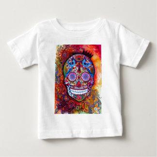 砂糖のスカル ベビーTシャツ