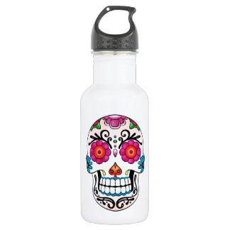砂糖のスカル-死者の日、入れ墨、メキシコ ウォーターボトル